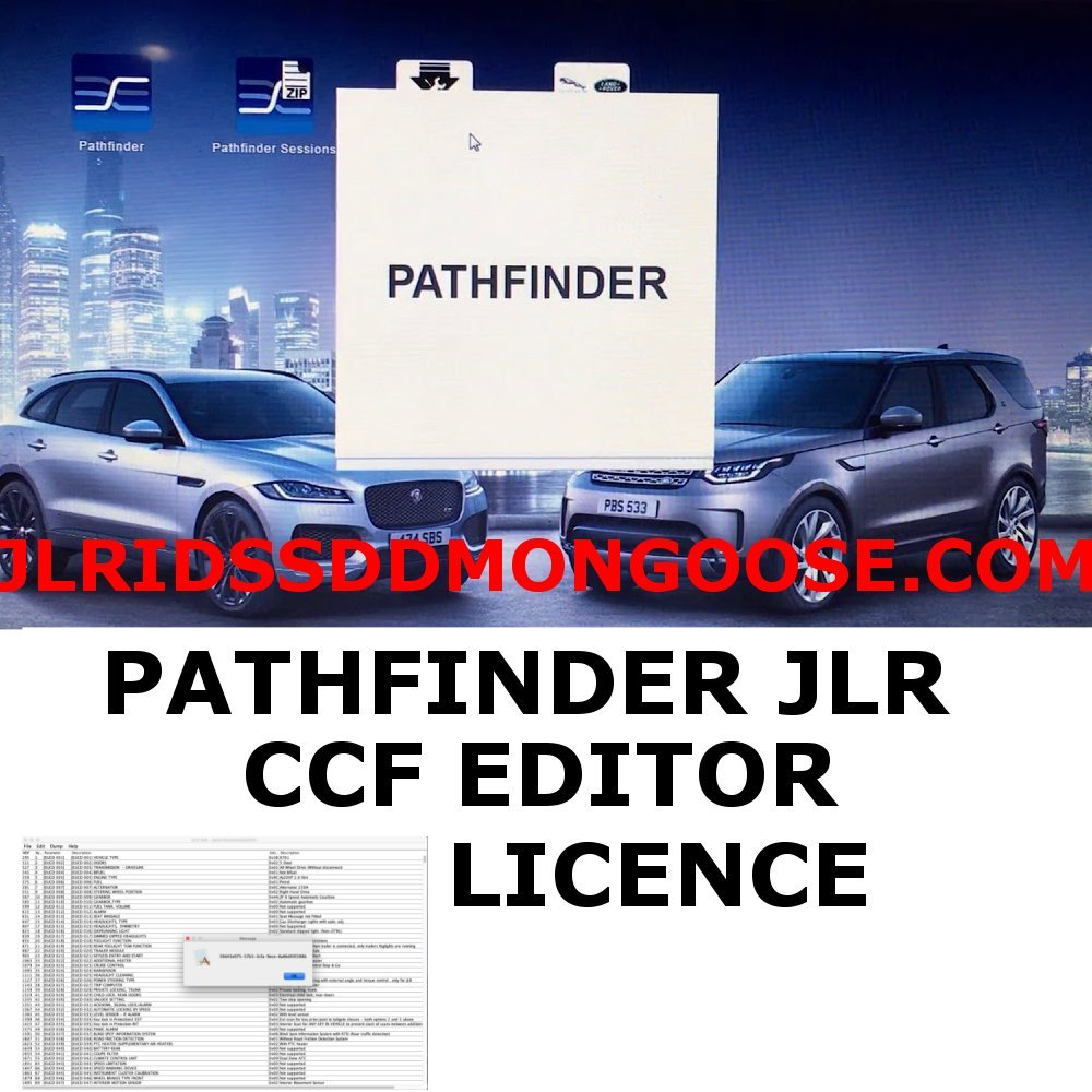 Licence for Unlimited CCF Editor for JLR Pathfinder